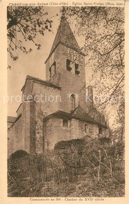 AK / Ansichtskarte Chatillon sur Seine Eglise Saint Vorles Monument historique Chatillon sur Seine 0