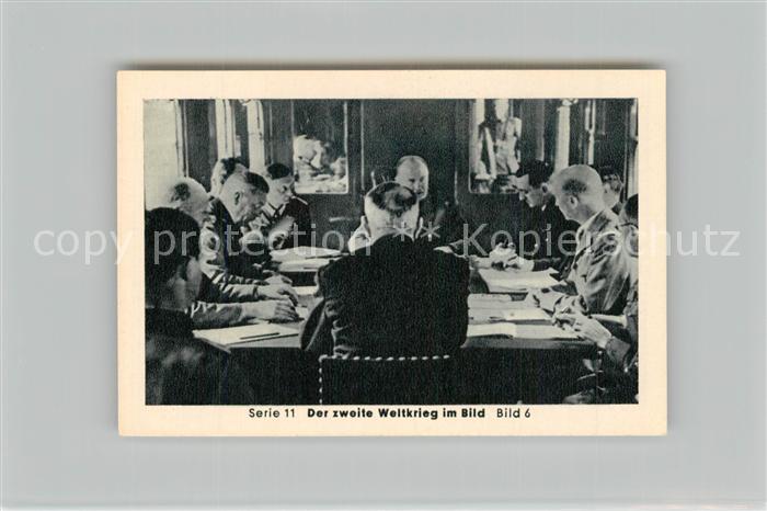 AK / Ansichtskarte Militaria_Deutschland_WK2 Von N?rnberg bis Stalingrad Waffenstillstand Wald von Compiegne Eilebrecht Zigaretten  0