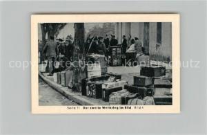 AK / Ansichtskarte Militaria_Deutschland_WK2 Von N?rnberg bis Stalingrad Waffenstillstand Fl?chtlinge auf allen Strassen Eilebrecht Zigaretten