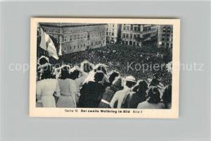 AK / Ansichtskarte Militaria_Deutschland_WK2 Von N?rnberg bis Stalingrad Kriegseintritt Italiens Jubel Eilebrecht Zigaretten