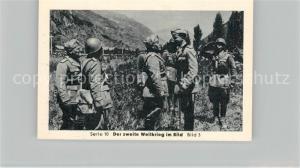 AK / Ansichtskarte Militaria_Deutschland_WK2 Von N?rnberg bis Stalingrad Kriegseintritt Italiens Alpenfront Kronprinz Umberto Mussolini Eilebrecht Zigaretten