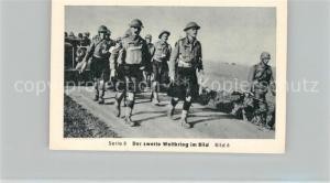 AK / Ansichtskarte Militaria_Deutschland_WK2 Von N?rnberg bis Stalingrad Durchbruch in Frankreich Kriegsgefangene Eilebrecht Zigaretten