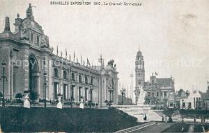 AK / Ansichtskarte Exposition_Bruxelles_1910 Grande Terrasse  Exposition_Bruxelles_1910