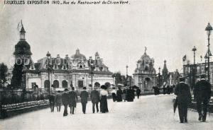 AK / Ansichtskarte Exposition_Bruxelles_1910 Restaurant du Chien Vert  Exposition_Bruxelles_1910