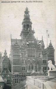 AK / Ansichtskarte Exposition_Bruxelles_1910 Pavillon Hollandais  Exposition_Bruxelles_1910