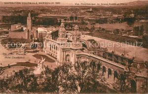 AK / Ansichtskarte Exposition_Coloniale_Marseille_1922  Grand Palais et Maroc Exposition_Coloniale