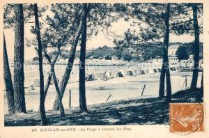AK / Ansichtskarte Saint Palais sur Mer la Plage a travers les Pins Saint Palais sur Mer