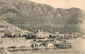 AK / Ansichtskarte Monte Carlo Vue prise de Monaco Monte Carlo