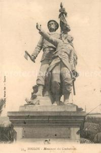 AK / Ansichtskarte Toulon_Var Monument des Combattants Toulon_Var
