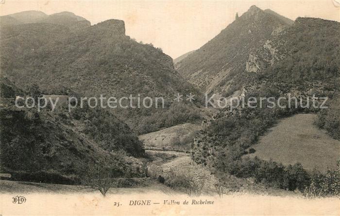 AK / Ansichtskarte Digne les Bains Vallon de Richelme Digne les Bains 0