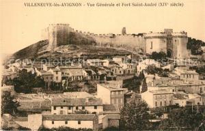 AK / Ansichtskarte Villeneuve les Avignon Vue generale et Fort Saint Andre Villeneuve les Avignon