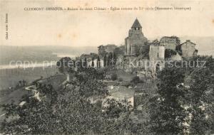 AK / Ansichtskarte Clermont Dessous Ruines du vieux Chateau Eglise romane Clermont Dessous