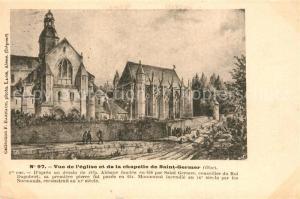 AK / Ansichtskarte Saint Germer de Fly Vue de l'eglise et de la Chapelle de Saint Germer Saint Germer de Fly