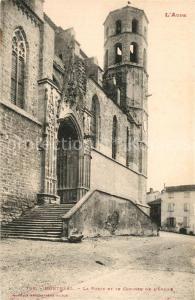 AK / Ansichtskarte Montreal_Aude La Porte et le Clocher de l Eglise Montreal Aude
