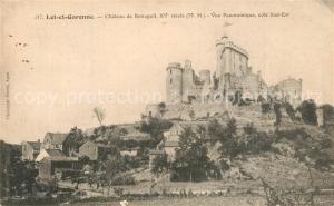 AK / Ansichtskarte Lot et Garonne_Departement Chateau de Bonaguil Vue panoramique cote Sud Est