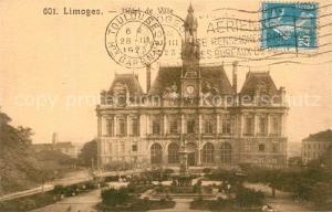 AK / Ansichtskarte Limoges_Haute_Vienne Hotel de Ville Limoges_Haute_Vienne