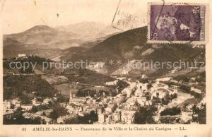 AK / Ansichtskarte Amelie les Bains Palalda Panorama de la Ville et la Chaine du Canigou Amelie les Bains Palalda