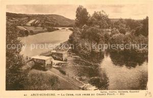 AK / Ansichtskarte Arcy sur Cure_Yonne La Cure vue prise du Grand Pont Arcy sur Cure Yonne