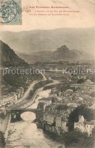 AK / Ansichtskarte Foix Ariege et le Pic de Montgaillard vue du Chemin de Saint Sauveur Foix