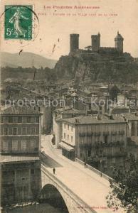 AK / Ansichtskarte Foix Entree de la Ville cote de la Gare Foix