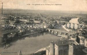 AK / Ansichtskarte Albi_Tarn Vue generale sur le Faubourg de la Madeleine Albi_Tarn