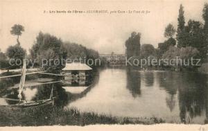 AK / Ansichtskarte Allemagne en Provence Les bords de l'Orne Le Pont de fer Allemagne en Provence