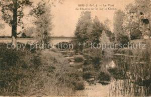 AK / Ansichtskarte Abilly Le Pont du Chemin de fer sur la Claise Abilly