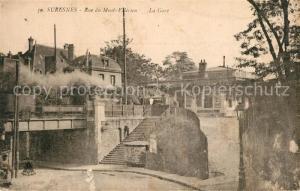 AK / Ansichtskarte Suresnes Rue du Mont Villerien La Gare Suresnes