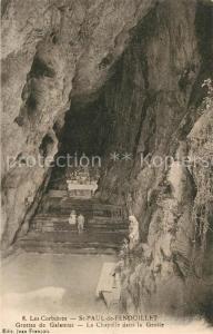 AK / Ansichtskarte Saint Paul de Fenouillet Grottes de Galamus La Chapelle dans la Grotte Saint Paul de Fenouillet