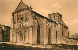 AK / Ansichtskarte Lignieres Sonneville Eglise Facade reconstruite en style gothique Lignieres Sonneville