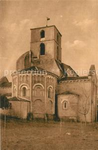 AK / Ansichtskarte Bourg Charente Eglise Abside du XII siecle Dans les cinq colonnes trois rangs d arcades Bourg Charente
