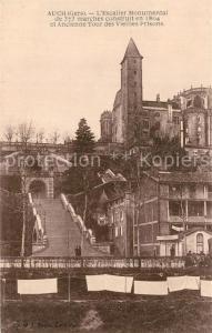 AK / Ansichtskarte Auch_Gers Escalier Monumental de 373 marches construit en 1804 et Ancienne Tour des Vieilles Prisons Auch_Gers