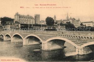 AK / Ansichtskarte Pau Le Pont sur le Gave et le Chateau d'Henri IV Pau