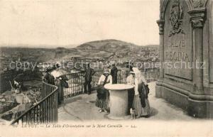 AK / Ansichtskarte Le_Puy_de_Dome La Table d'Orientation sur le Mont Corneille Le_Puy_de_Dome