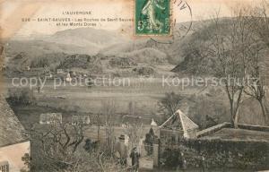 AK / Ansichtskarte Saint Sauves d_Auvergne Les Roches de Saint Sauves et les Monts Dores Saint Sauves d Auvergne
