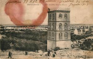 AK / Ansichtskarte Zuydcoote La tour ensablee dans les Dunes Zuydcoote