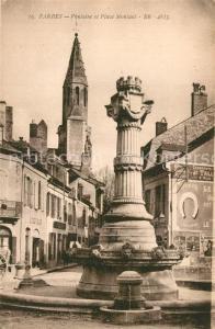 AK / Ansichtskarte Tarbes Fontaine et Place Montant Tarbes