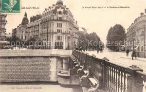AK / Ansichtskarte Grenoble Le Cours Saint Andre et le Boulevard Gambetta Grenoble