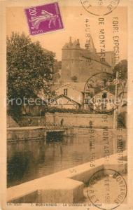 AK / Ansichtskarte Montargis_Loiret Le Chateau et le Canal Montargis Loiret