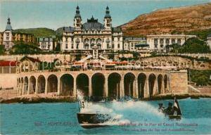 AK / Ansichtskarte Monte Carlo Vue prise de la Mer et Canot Automobile Monte Carlo