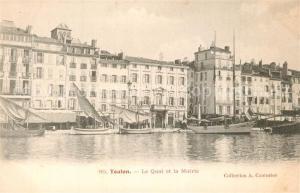 AK / Ansichtskarte Toulon_Var Le Quai et la Mairie Toulon_Var