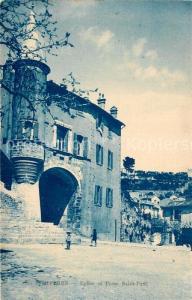 AK / Ansichtskarte Hyeres_les_Palmiers Eglise et Porte Saint Paul Hyeres_les_Palmiers