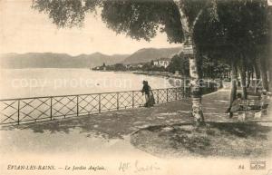 AK / Ansichtskarte Evian les Bains_Haute_Savoie Le Jardin Anglais Evian les Bains_Haute