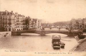AK / Ansichtskarte Bayonne_Pyrenees_Atlantiques Les Quais de la Nive Bayonne_Pyrenees