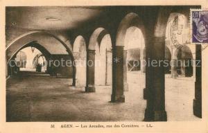 AK / Ansichtskarte Agen_Lot_et_Garonne Les Arcades rue des Cornieres Agen_Lot_et_Garonne