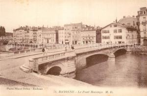 AK / Ansichtskarte Bayonne_Pyrenees_Atlantiques Le Pont Marengo Bayonne_Pyrenees