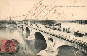 AK / Ansichtskarte Toulouse_Haute Garonne Le Pont Neuf et l'Hotel Dieu Toulouse Haute Garonne