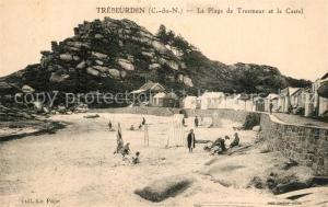 AK / Ansichtskarte Trebeurden La Plage de Tresmeur et le Castel Trebeurden