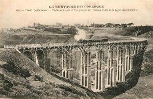 AK / Ansichtskarte Saint Brieuc_Cotes d_Armor Viaduc de Toupin et Vue generale des Travaux d'Art de la Ligne departementes Saint Brieuc_Cotes d