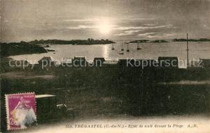 AK / Ansichtskarte Tregastel Effet de nuit devant la Plage Tregastel